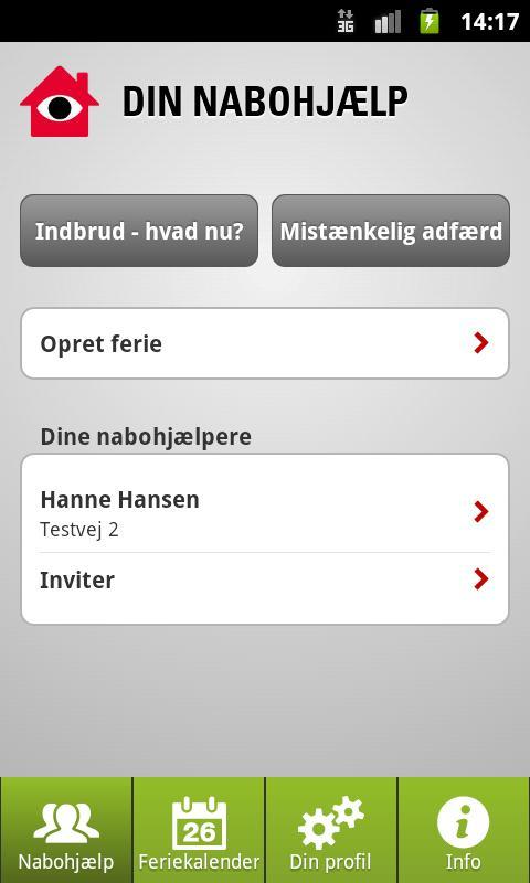 Nabohjælp- screenshot