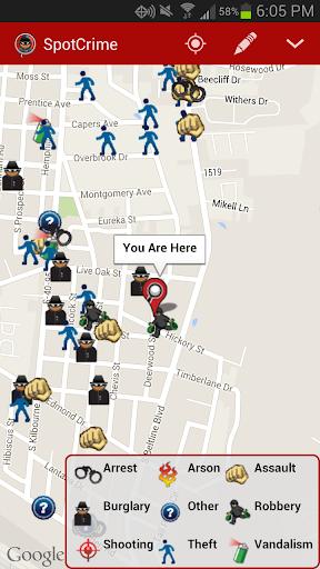 SpotCrime Crime Map