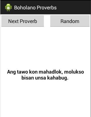 Boholano Proverbs