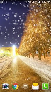 Snow Night Live Wallpaper HD 1