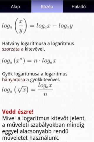 【免費教育App】matekonline - Elméleti alapok-APP點子