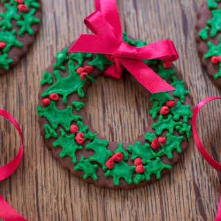 Christmas Wreath Cookies.