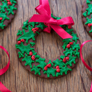 Christmas Wreath Cookies.