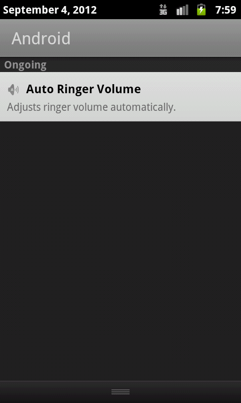 Auto Ringer Volume- screenshot