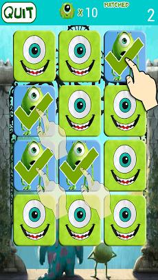 Monster Inc Kids Memory Gameのおすすめ画像1