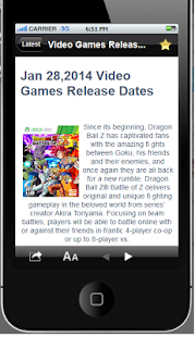 Video Game Releases Dates - screenshot thumbnail