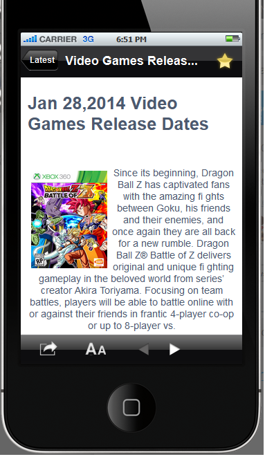 Video Game Releases Dates - screenshot
