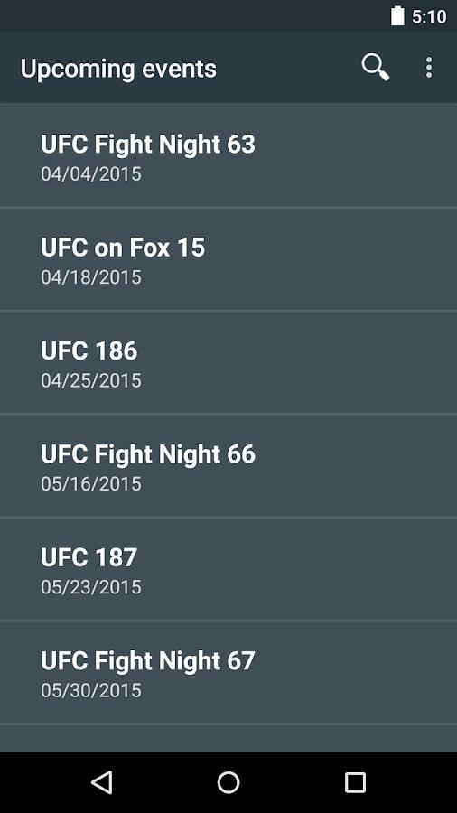 MMA Odds- screenshot