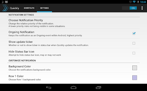Quickly Notification Shortcuts v2.1.3.1