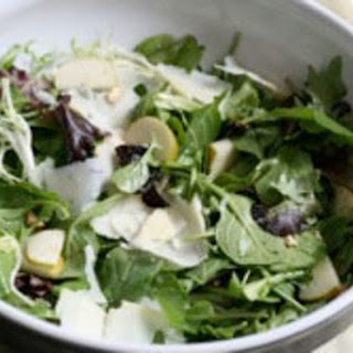 Pear, Parmesan, and Cashew Salad
