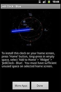 JediClock - Blue - screenshot thumbnail