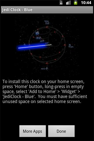 JediClock - Blue - screenshot