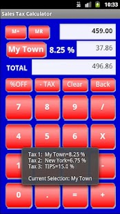 Sales Tax Calculator Free - screenshot thumbnail