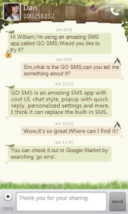 GO SMS Pro Springtime theme - screenshot thumbnail