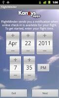 Screenshot of FlightMinder