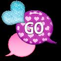 GO SMS - Sparkling Hearts 2 icon