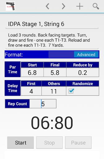Dry Fire Par Time Tracker 1.96 screenshots 2