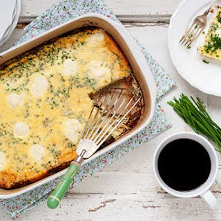 Gluten Free Cheesy Leek and Chive Baked Eggs