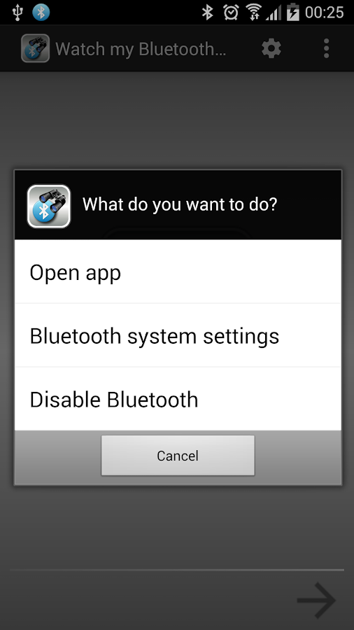 Watch my Bluetooth Devices- screenshot