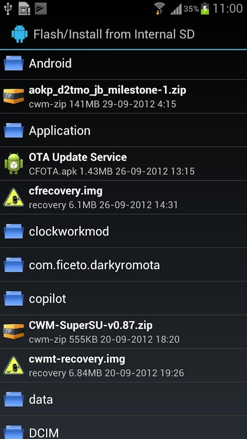ROM Customizer- screenshot