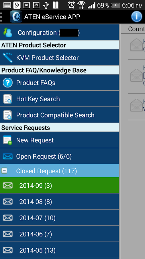 ATEN eService APP- screenshot