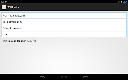 how to open eml file on android