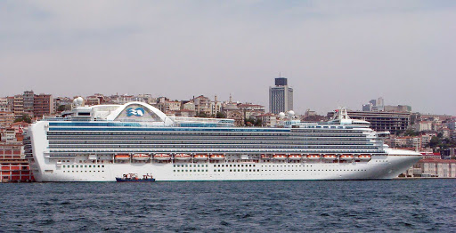 Emerald-Princess-Istanbul-Turkey - Emerald Princess in Istanbul, Turkey.