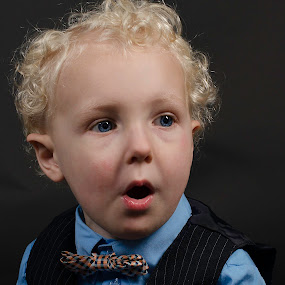Oooh by Beckie Caughman - Babies & Children Child Portraits ( studio, child, blue eyes, boy, portrait,  )