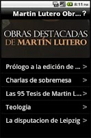 Screenshot of Martin Lutero Obras Destacadas