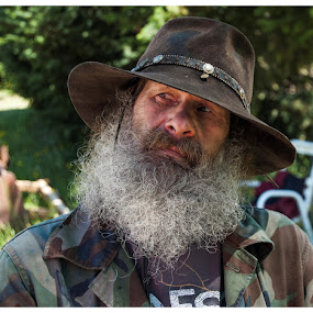 suspicious eyes by Bill Wagner - People Portraits of Men ( wary, trust, beard, stranger, man )