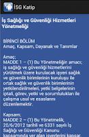 Screenshot of İSG Katip