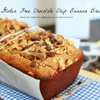 Easy Gluten Free Chocolate Chip Banana Bread.