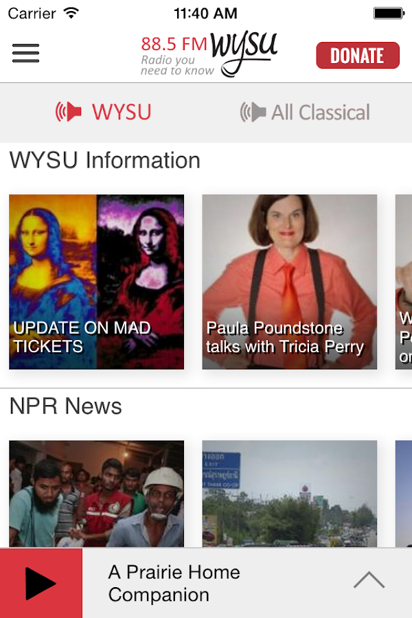 WYSU Public Radio App - screenshot