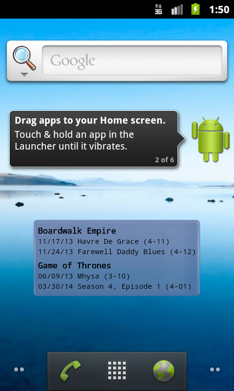 EpguideWidget- screenshot