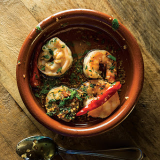 Gambas Al Ajillo (Chile-Garlic Shrimp).