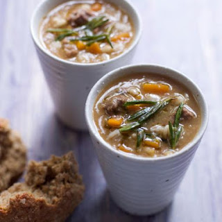 Brown Windsor soup with pearl barley.