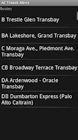 Screenshot of AC Transit Alerts