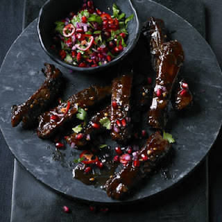 Sweet & Sour Ribs with Pomegranate Salsa Recipe