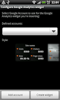 Screenshot of Analytics Widget