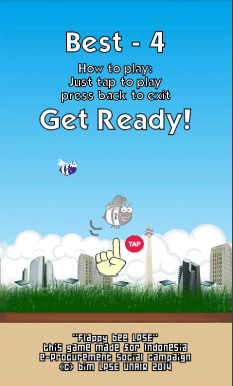 Flappy bee LPSE- screenshot