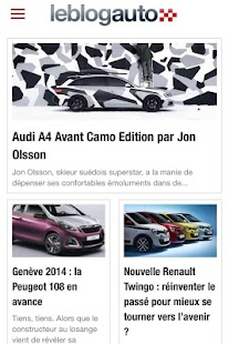 le blog auto Capture d'écran