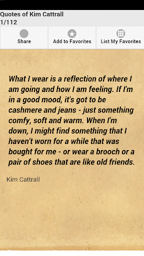 Quotes of Kim Cattrall