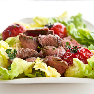 Grilled Steak and Tomato Salad with Rum Vinaigrette.