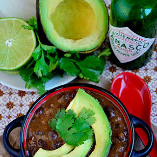 Best-Ever Black Bean Soup with Cilantro-Lime Rice.