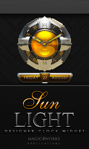 Sunlight designer Clock Widget