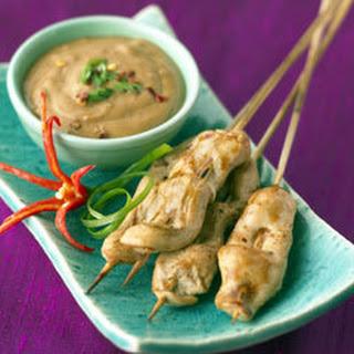 Skewered Chicken Satay.
