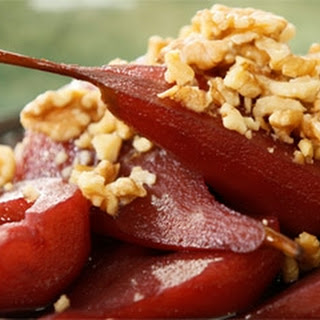 Poached Pears in Red Wine with Mascarpone Recipe