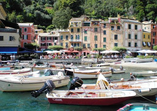 Harbor in Portofino, Italy.