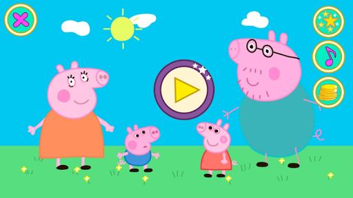 粉紅豬小妹和家人。拼圖PRO