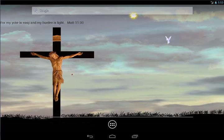 Jesus On Cross Live Wallpaper Android App Screenshot